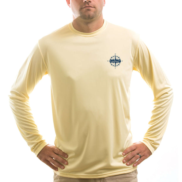 Catalina 27 Class Sailboat Men's UPF 5+ UV/Sun Protection Long Sleeve T-Shirt - Altered Latitudes