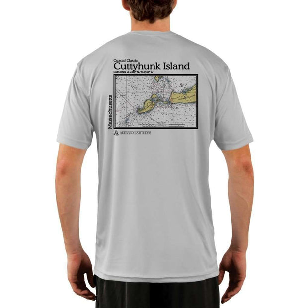 Coastal Classics Cuttyhunk Island Mens Upf 5+ Uv/sun Protection Performance T-Shirt Pearl Grey / X-Small Shirt