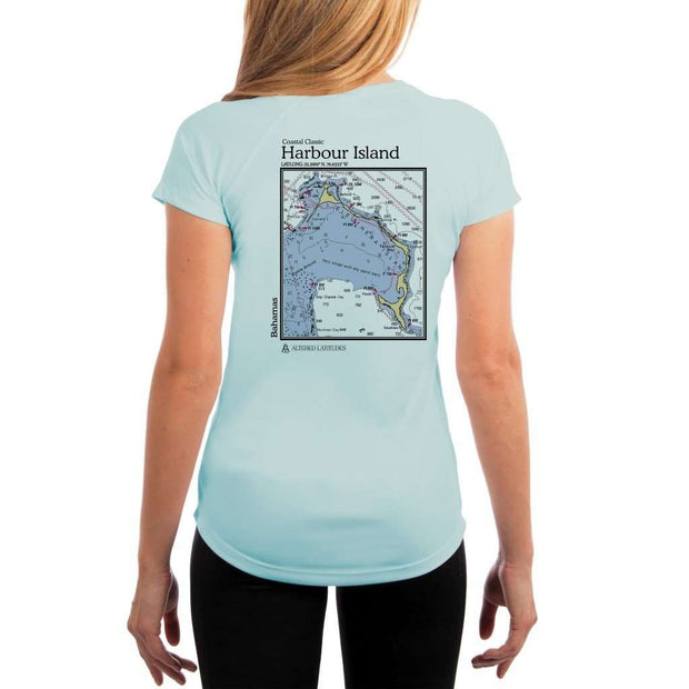 Coastal Classics Harbour Island Womens Upf 5+ Uv/sun Protection Performance T-Shirt Arctic Blue / X-Small Shirt