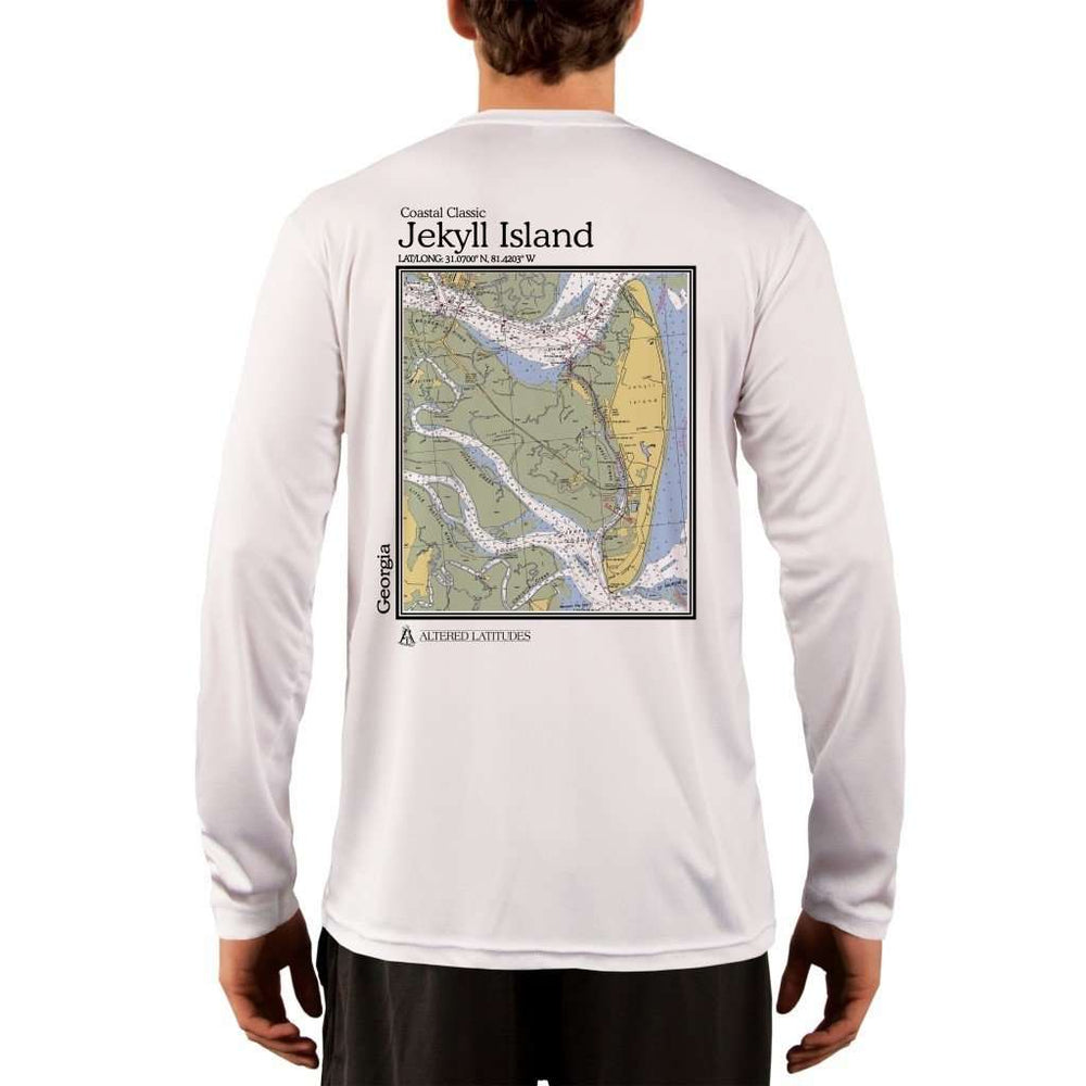 Coastal Classics Jekyll Island Mens Upf 5+ Uv/sun Protection Performance T-Shirt White / X-Small Shirt
