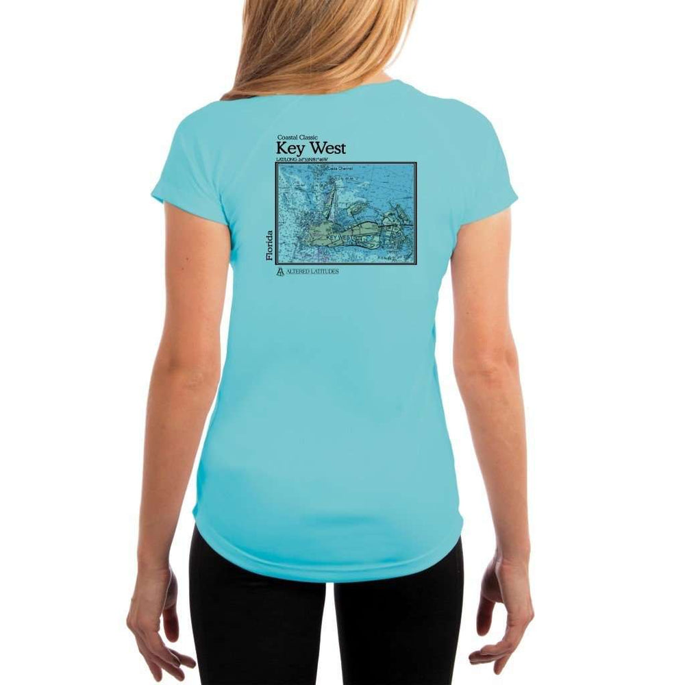 Coastal Classics Key West Womens Upf 5+ Uv/sun Protection Performance T-Shirt Water Blue / X-Small Shirt