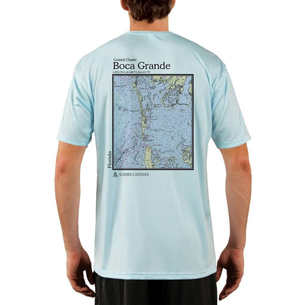 Coastal Classics Boca Grande Mens Upf 50+ Uv/sun Protection Performance T-Shirt Arctic Blue / X-Small Shirt