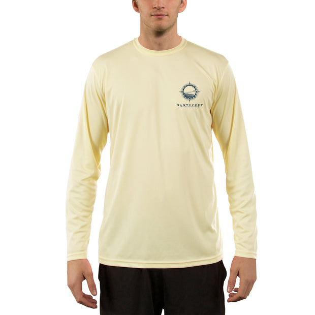 Compass Vintage Nantucket Men's UPF 50+ Long Sleeve T-Shirt