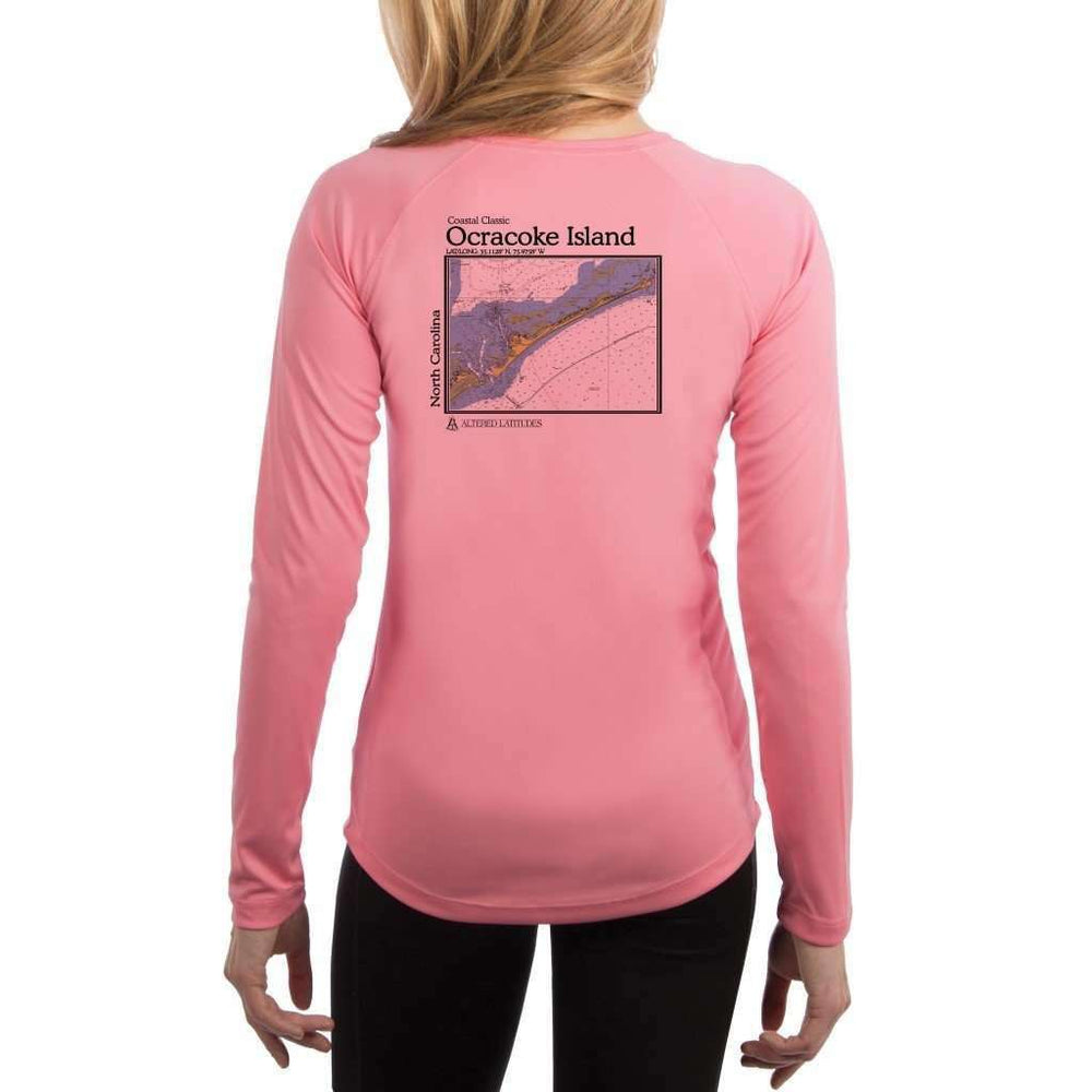 Coastal Classics Ocracoke Island Womens Upf 5+ Uv/sun Protection Performance T-Shirt Pretty Pink / X-Small Shirt