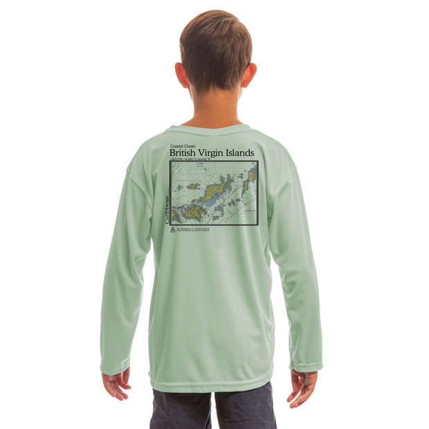 Coastal Classics British Virgin Islands Youth UPF 5+ UV/Sun Protection Long Sleeve T-Shirt - Altered Latitudes