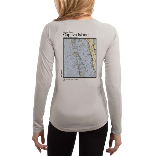 Coastal Classics Captiva Island Womens Upf 5+ Uv/sun Protection Performance T-Shirt Pearl Grey / X-Small Shirt