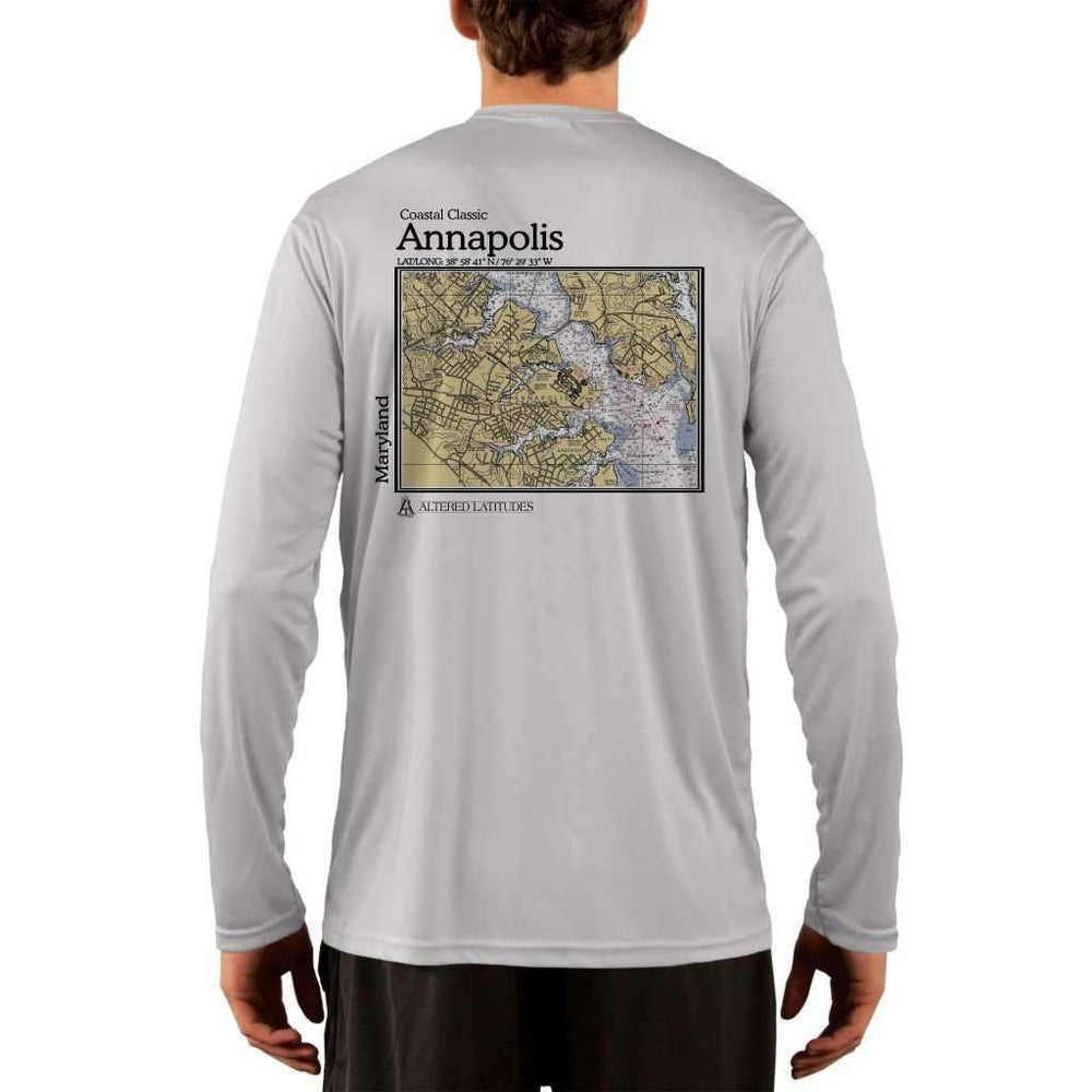 Coastal Classics Annapolis Mens Upf 5+ Uv/sun Protection Performance T-Shirt Pearl Grey / X-Small Shirt