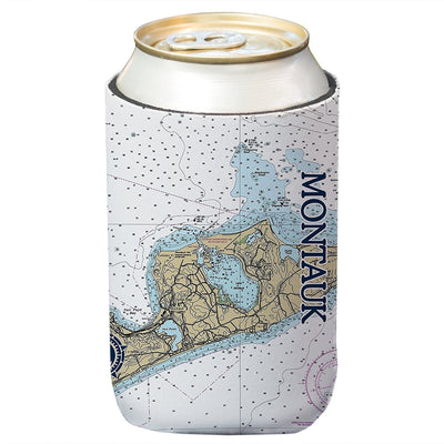 Altered Latitudes Montauk, NY Chart Standard Can Cooler (4-Pack)