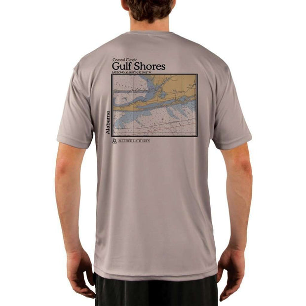 Coastal Classics Gulf Shores Mens Upf 5+ Uv/sun Protection Performance T-Shirt Athletic Grey / X-Small Shirt