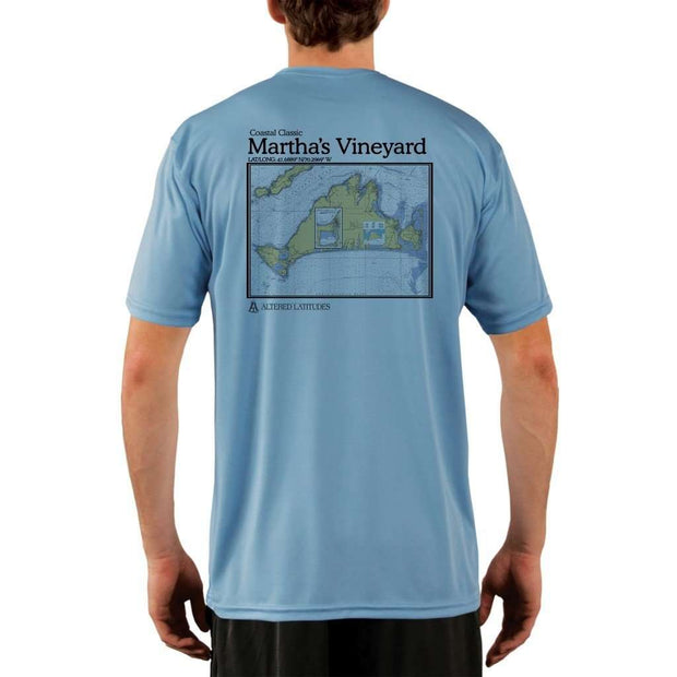 Coastal Classics Marthas Vineyard Mens Upf 5+ Uv/sun Protection Performance T-Shirt Columbia Blue / X-Small Shirt