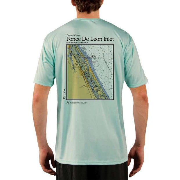 Coastal Classics Ponce De Leon Inlet Mens Upf 5+ Uv/sun Protection Performance T-Shirt Seagrass / X-Small Shirt