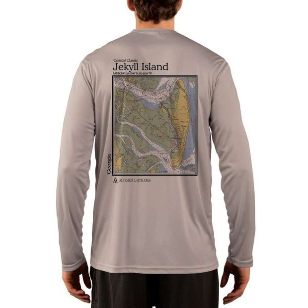 Coastal Classics Jekyll Island Mens Upf 5+ Uv/sun Protection Performance T-Shirt Athletic Grey / X-Small Shirt