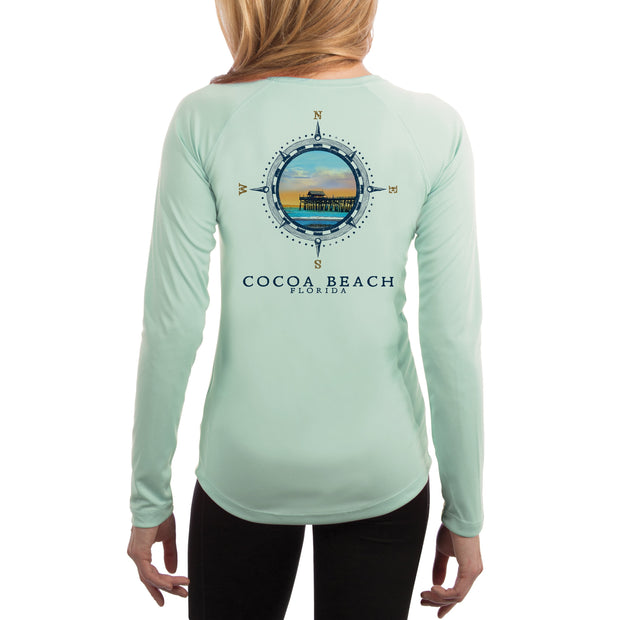 Compass Vintage Cocoa Beach Women's UPF 50+ Long Sleeve T-shirt