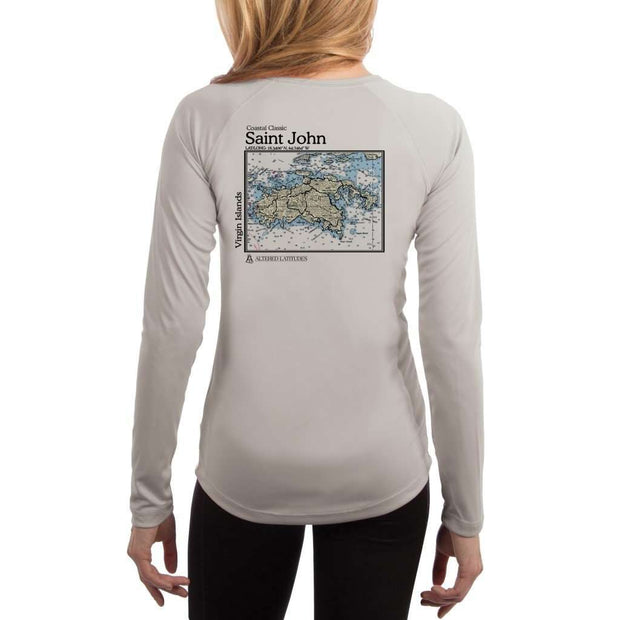 Coastal Classics Saint John Womens Upf 5+ Uv/sun Protection Performance T-Shirt Pearl Grey / X-Small Shirt