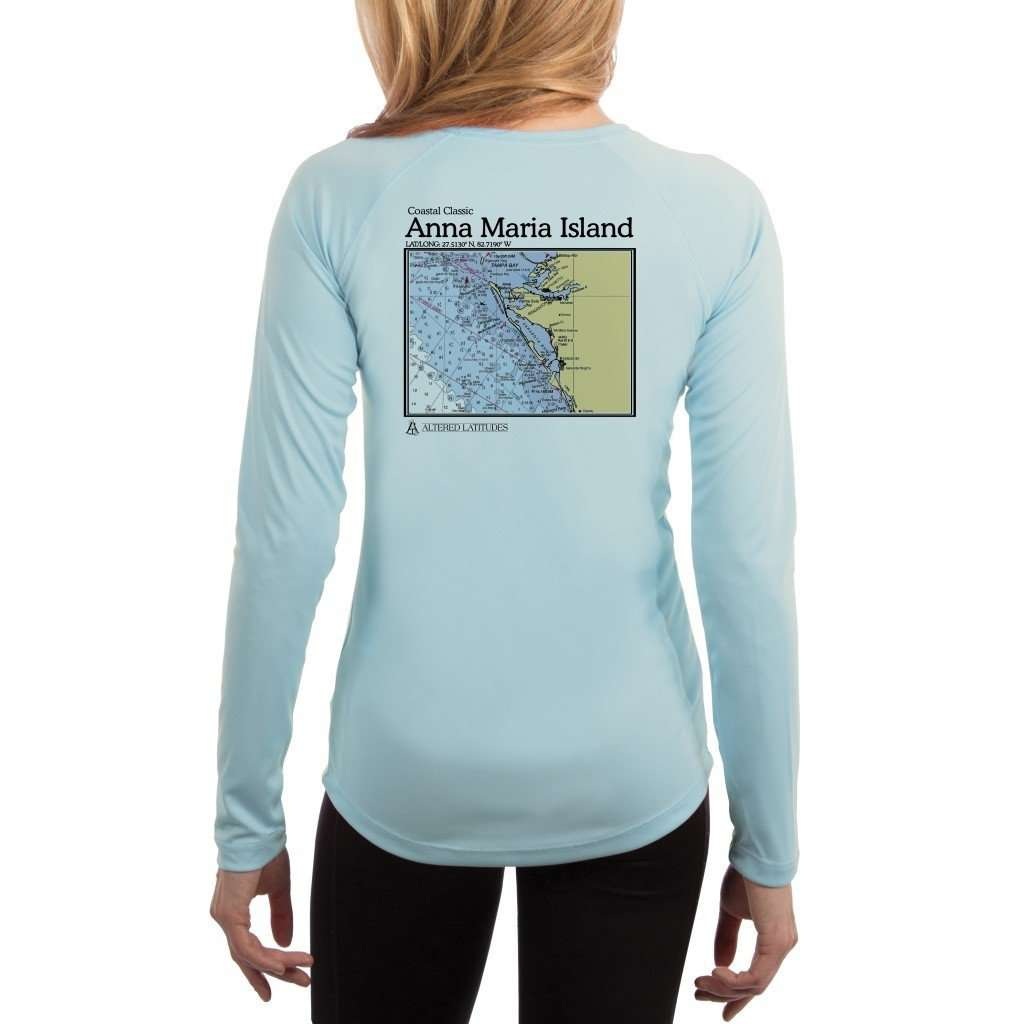 Coastal Classics Anna Maria Island Womens Upf 50+ Uv/sun Protection Performance T-Shirt Arctic Blue / X-Small Shirt
