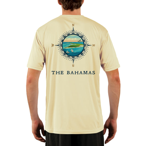 Compass Vintage Bahamas Men's UPF 50+ Short Sleeve T-shirt