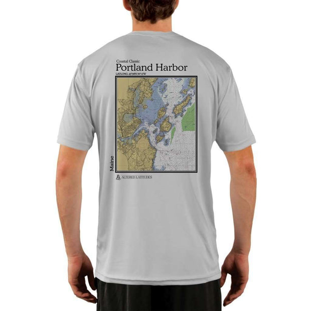 Coastal Classics Portland Harbor Mens Upf 5+ Uv/sun Protection Performance T-Shirt Pearl Grey / X-Small Shirt