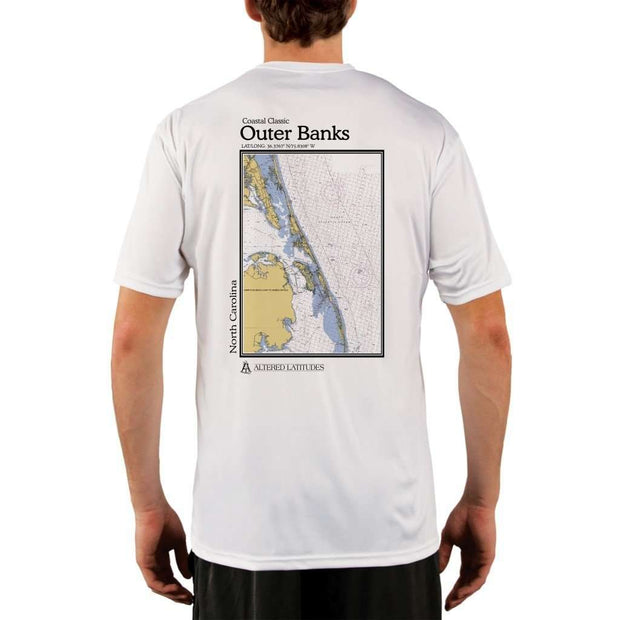 Coastal Classics Outer Banks Mens Upf 5+ Uv/sun Protection Performance T-Shirt White / X-Small Shirt