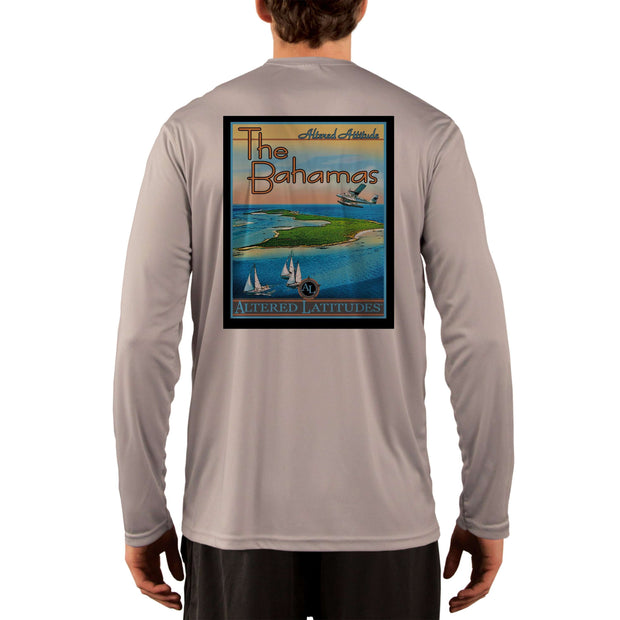 Vintage Destination The Bahamas Men's UPF 50+ UV Sun Protection Long Sleeve T-Shirt