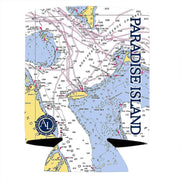 Altered Latitudes Paradise Island, Bahamas Chart Standard Can Cooler (4-Pack)