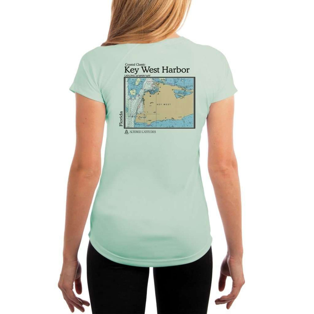 Coastal Classics Key West Harbor Womens Upf 5+ Uv/sun Protection Performance T-Shirt Seagrass / X-Small Shirt