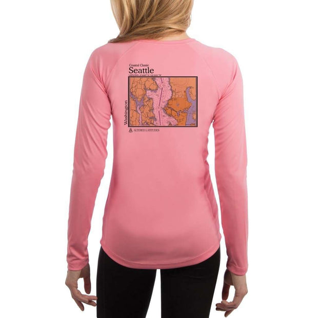 Coastal Classics Seattle Womens Upf 5+ Uv/sun Protection Performance T-Shirt Pretty Pink / X-Small Shirt