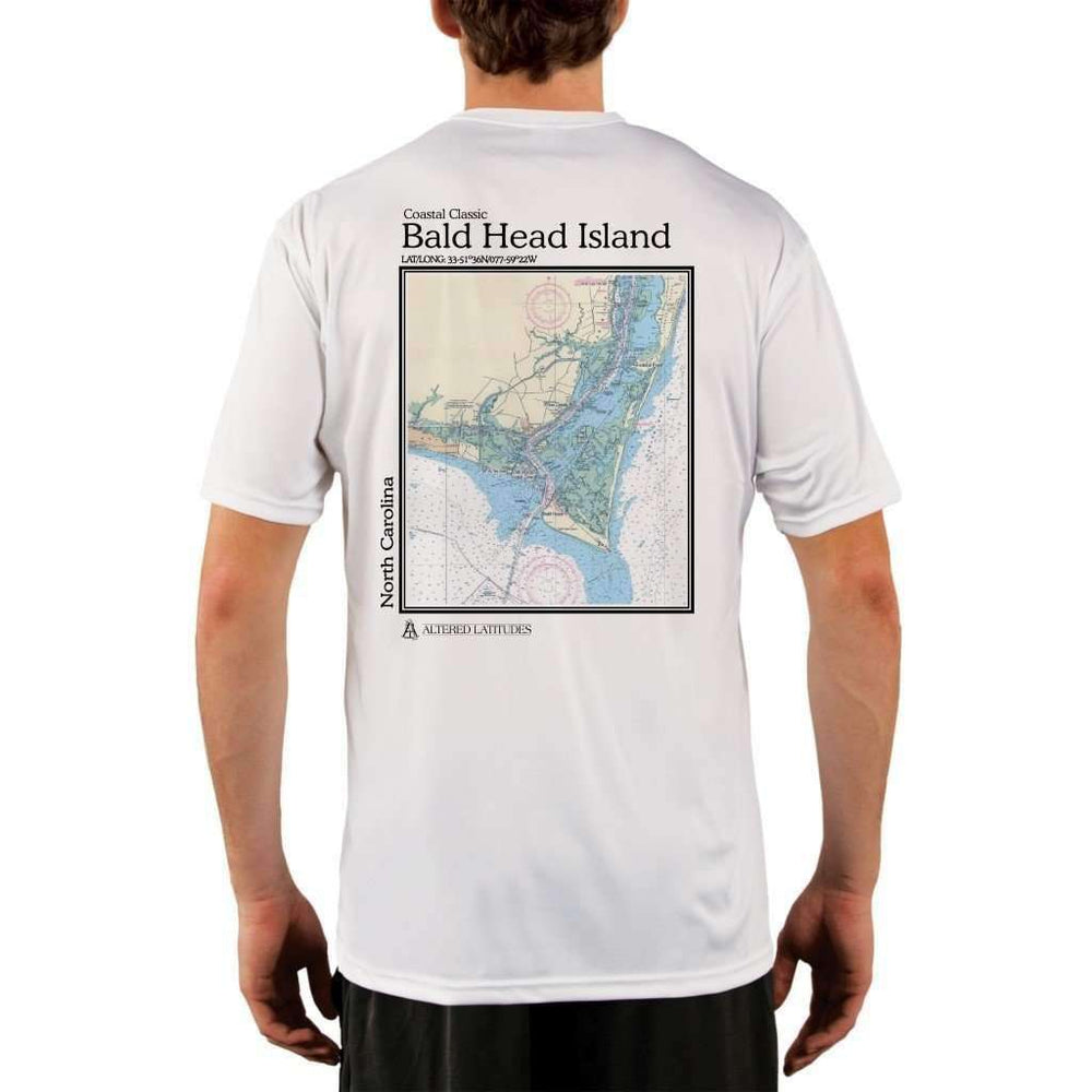 Coastal Classics Bald Head Island Mens Upf 5+ Uv/sun Protection Performance T-Shirt White / X-Small Shirt