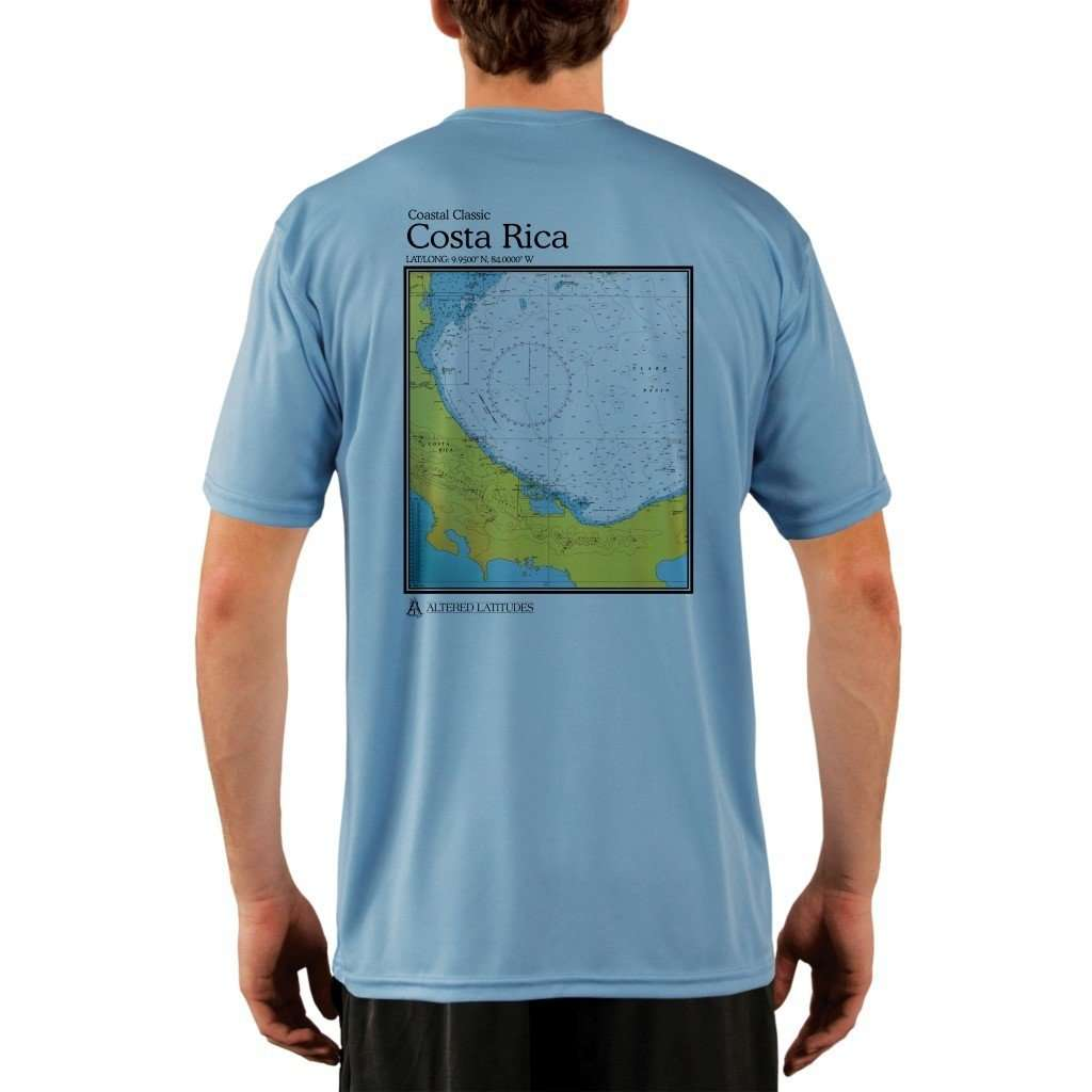 Coastal Classics Costa Rica Mens Upf 50+ Uv/sun Protection Performance T-Shirt Columbia Blue / X-Small Shirt