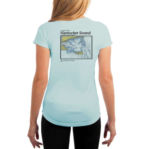 Coastal Classics Nantucket Sound Womens Upf 5+ Uv/sun Protection Performance T-Shirt Arctic Blue / X-Small Shirt