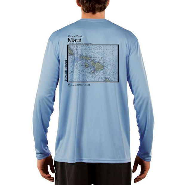 Coastal Classics Maui Mens Upf 5+ Uv/sun Protection Performance T-Shirt Columbia Blue / X-Small Shirt