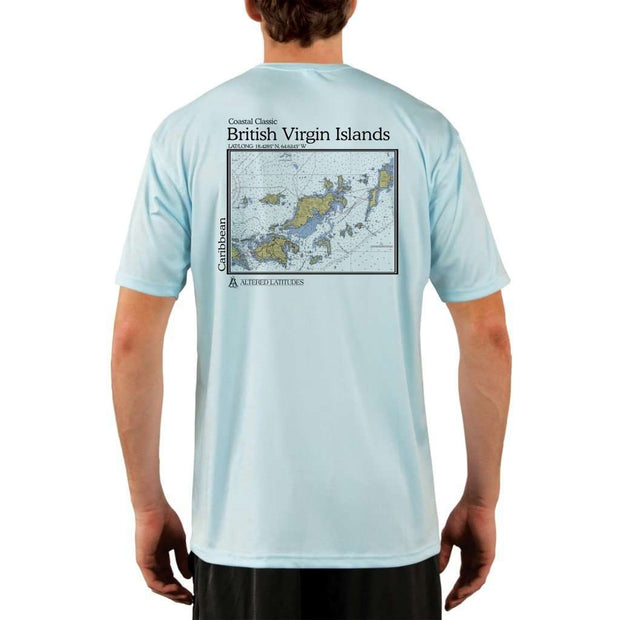 Coastal Classics British Virgin Islands Mens Upf 5+ Uv/sun Protection Performance T-Shirt Arctic Blue / X-Small Shirt