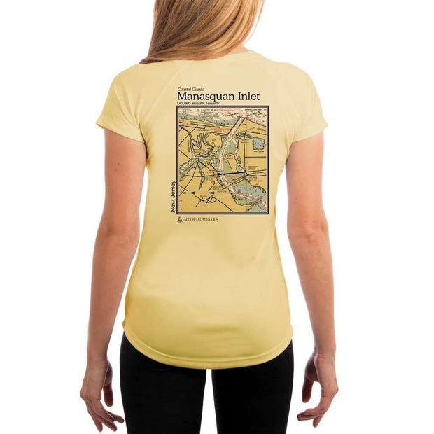 Coastal Classics Manasquan Inlet Womens Upf 5+ Uv/sun Protection Performance T-Shirt Pale Yellow / X-Small Shirt