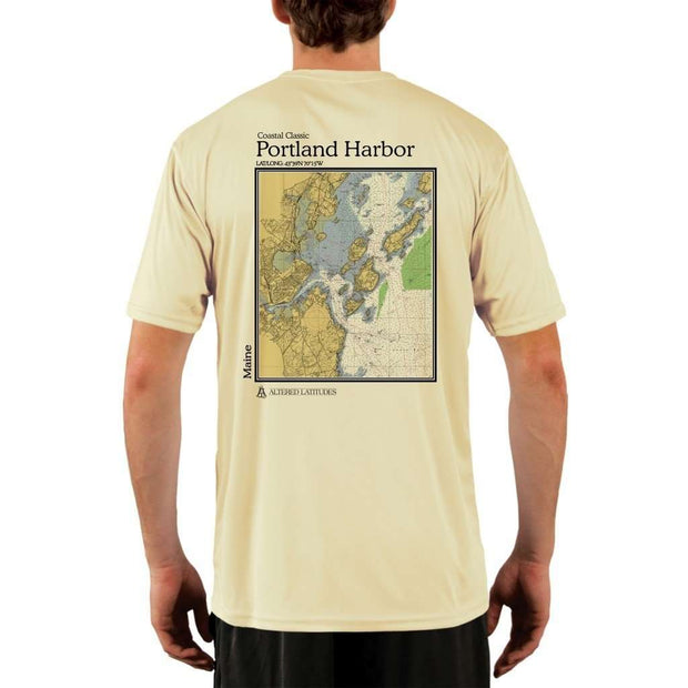 Coastal Classics Portland Harbor Mens Upf 5+ Uv/sun Protection Performance T-Shirt Pale Yellow / X-Small Shirt