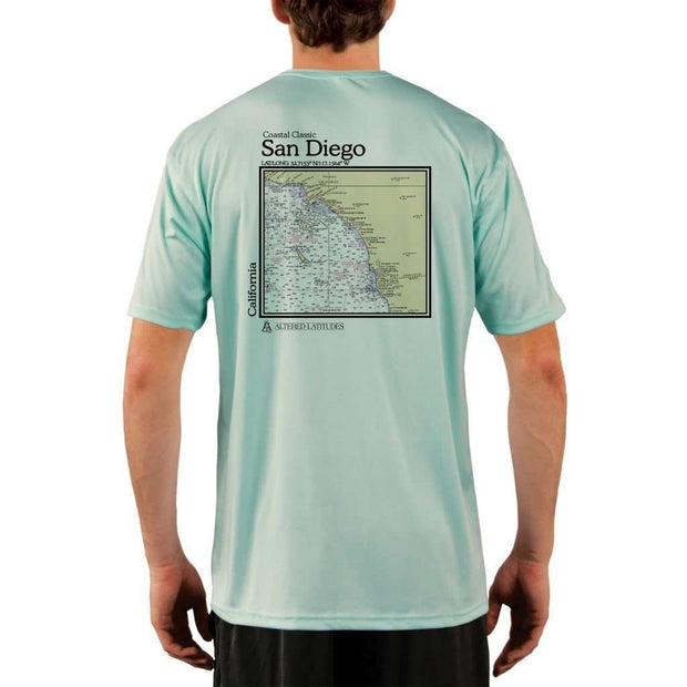 Coastal Classics San Diego Mens Upf 5+ Uv/sun Protection Performance T-Shirt Seagrass / X-Small Shirt