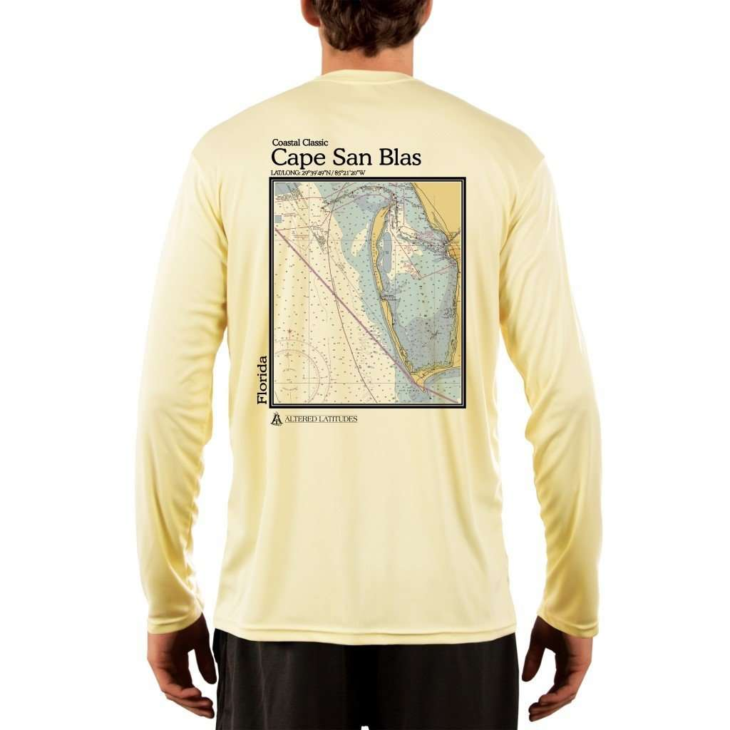 Coastal Classics Cape San Blas Mens Upf 50+ Uv/sun Protection Performance T-Shirt Pale Yellow / X-Small Shirt