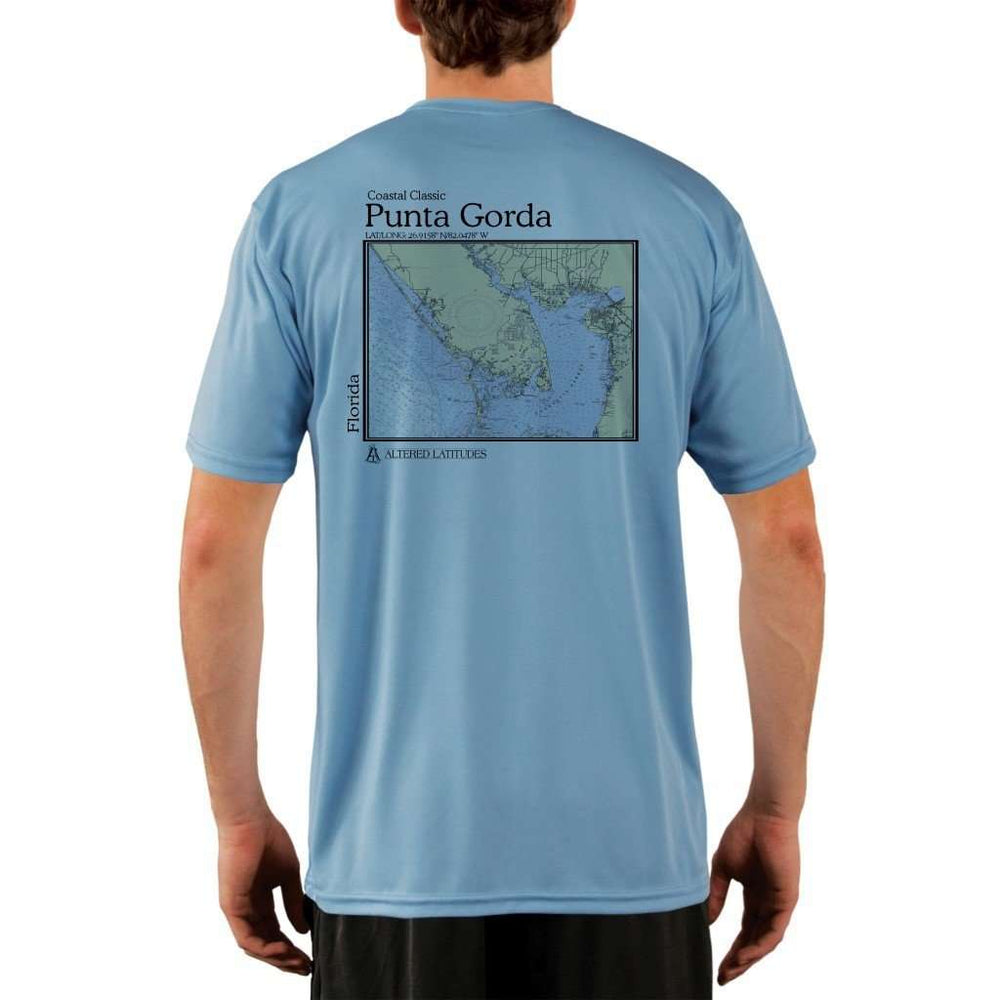 Coastal Classics Punta Gorda Mens Upf 5+ Uv/sun Protection Performance T-Shirt Columbia Blue / X-Small Shirt