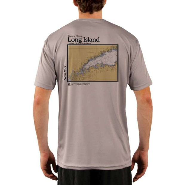 Coastal Classics Long Island Mens Upf 5+ Uv/sun Protection Performance T-Shirt Athletic Grey / X-Small Shirt