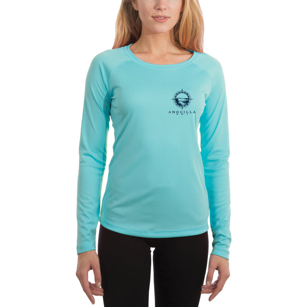 Compass Vintage Anguilla Women's UPF 50+ Long Sleeve T-shirt