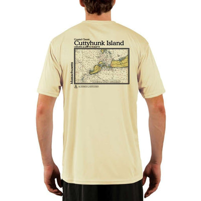 Coastal Classics Cuttyhunk Island Mens Upf 5+ Uv/sun Protection Performance T-Shirt Pale Yellow / X-Small Shirt