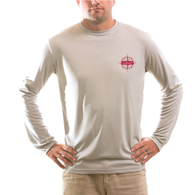 Catalina 27 Class Sailboat Men's UPF 50+ Long Sleeve T-Shirt - Altered Latitudes