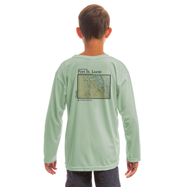 Coastal Classics Port St. Lucie Youth UPF 50+ UV/Sun Protection Long Sleeve T-Shirt