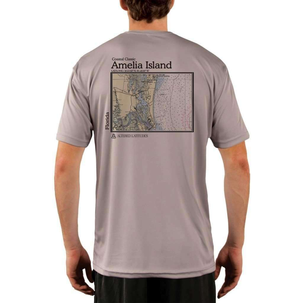 Coastal Classics Amelia Island Mens Upf 50+ Uv/sun Protection Performance T-Shirt Athletic Grey / X-Small Shirt