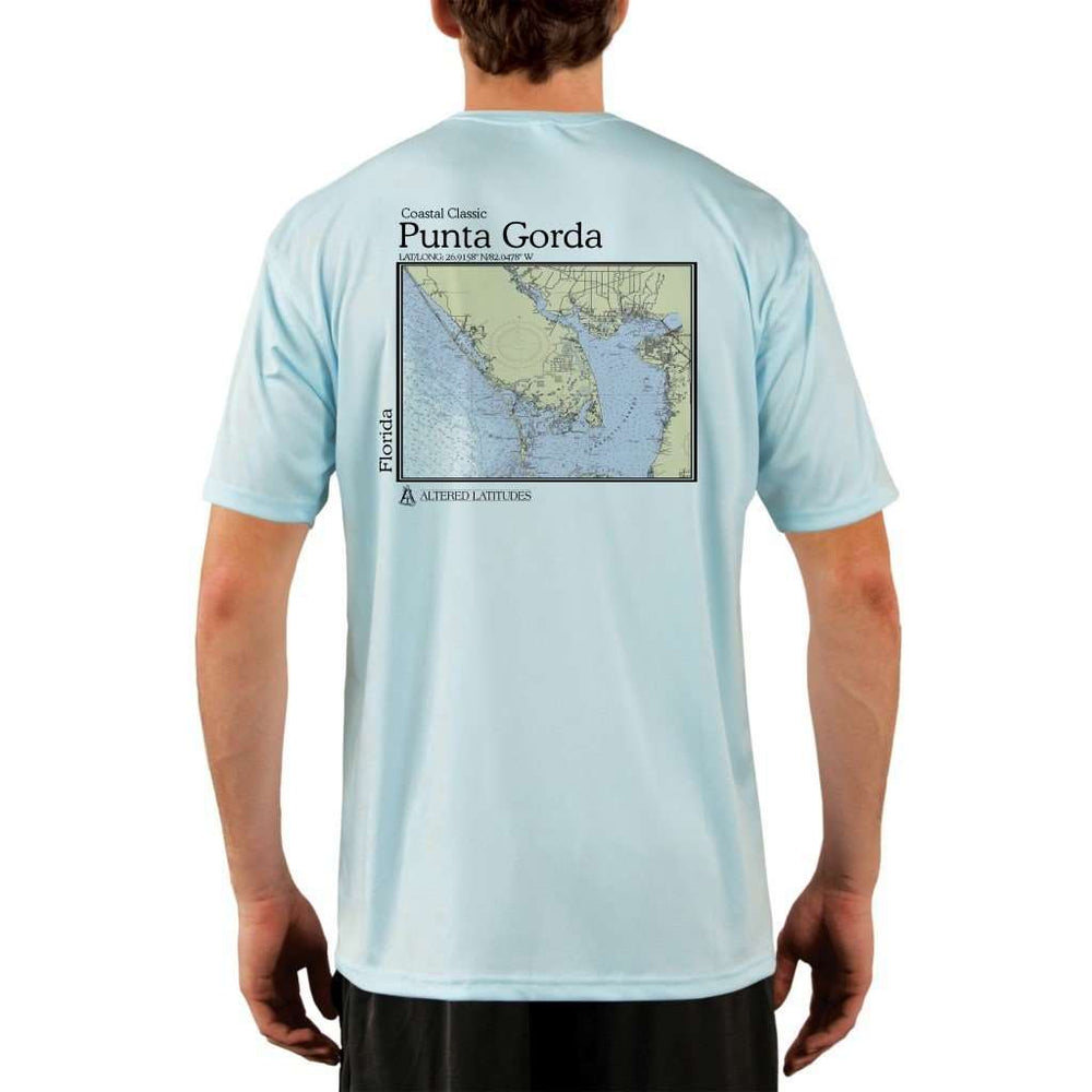 Coastal Classics Punta Gorda Mens Upf 5+ Uv/sun Protection Performance T-Shirt Arctic Blue / X-Small Shirt