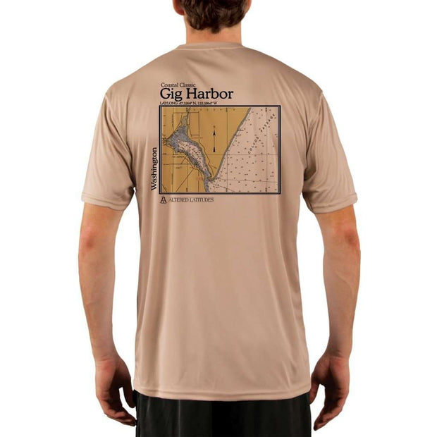 Coastal Classics Gig Harbor Mens Upf 5+ Uv/sun Protection Performance T-Shirt Tan / X-Small Shirt