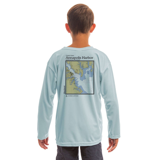 Coastal Classics Annapolis Harbor Youth UPF 50+ UV/Sun Protection Long Sleeve T-Shirt - Altered Latitudes