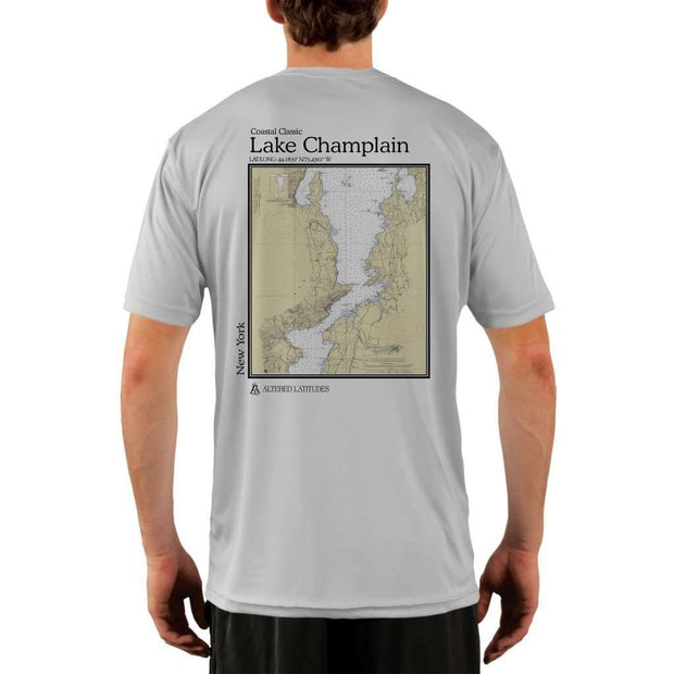 Coastal Classics Lake Champlain Mens Upf 5+ Uv/sun Protection Performance T-Shirt Pearl Grey / X-Small Shirt