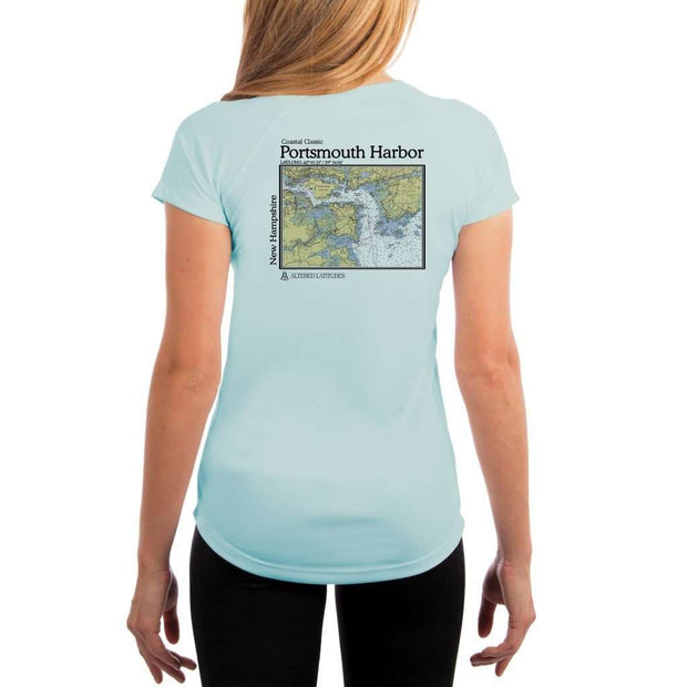 Coastal Classics Portsmouth Harbor Womens Upf 5+ Uv/sun Protection Performance T-Shirt Arctic Blue / X-Small Shirt