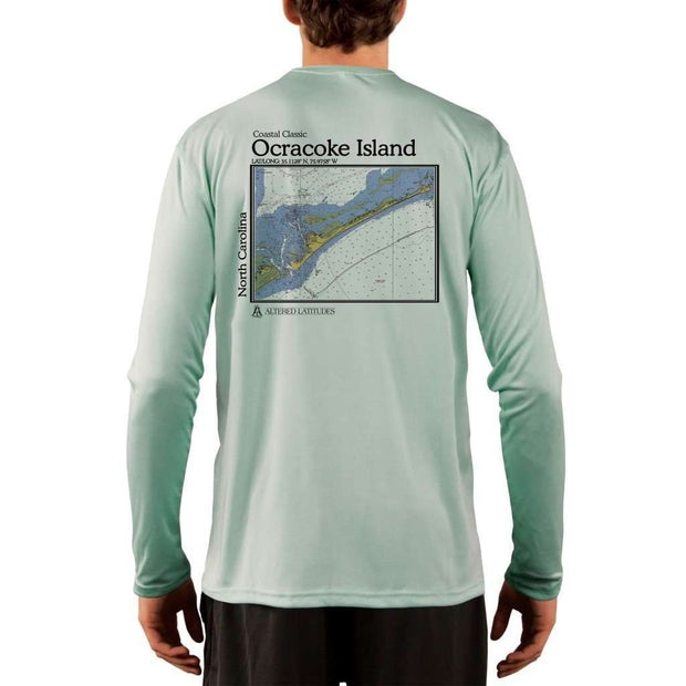 Coastal Classics Ocracoke Island Mens Upf 5+ Uv/sun Protection Performance T-Shirt Seagrass / X-Small Shirt