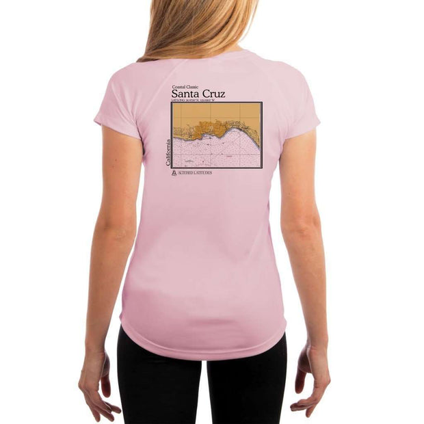 Coastal Classics Santa Cruz Womens Upf 5+ Uv/sun Protection Performance T-Shirt Pink Blossom / X-Small Shirt
