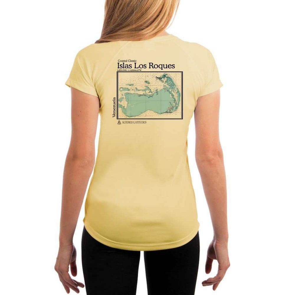 Coastal Classics Islas Los Roques Womens Upf 5+ Uv/sun Protection Performance T-Shirt Pale Yellow / X-Small Shirt